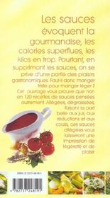 Sauces legeres et dietetiques - 4ème de couverture - Format classique