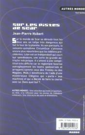 Sur Les Pistes De Scar - 4ème de couverture - Format classique
