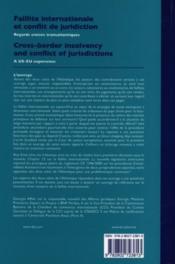 Faillite internationale et conflit de juridiction - Couverture - Format classique