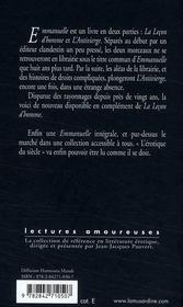 Emmanuelle t.2 ; l'antivierge - 4ème de couverture - Format classique