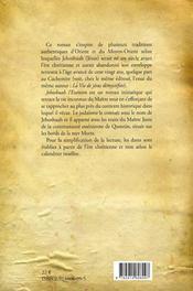 Jehoshuah l'essénien - 4ème de couverture - Format classique