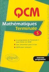 Qcm Mathematiques Terminale S Nouveau Programme Une Simulation Pour Le Bac Qcm Pour Concours - Intérieur - Format classique