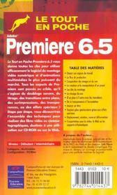 Premiere 6.5 Tep - 4ème de couverture - Format classique