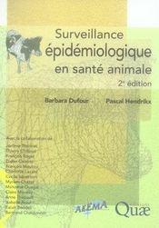 Surveillance épidémiologique en santé animale (2e édition) - Intérieur - Format classique