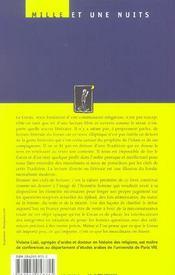 De L'Usage Du Coran - 4ème de couverture - Format classique