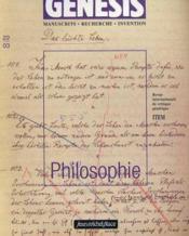 Genesis N.22 ; Philosophie - Couverture - Format classique