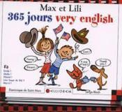Max et Lili ; 365 jours very english - Couverture - Format classique