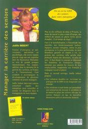 Manager La Carriere Des Seniors. Vers De Nouvelles Pratiquesde Grh - 4ème de couverture - Format classique