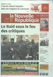 Nouvelle Republique (La) N°20503 du 24/03/2012 - Couverture - Format classique