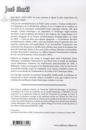 Jose marti ; la liberté de cuba et de l'amérique latine - 4ème de couverture - Format classique