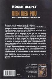 Dien Bien Phu - Histoire D'Une Trahison - 4ème de couverture - Format classique