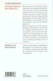 L'Intelligence Des Reseaux - 4ème de couverture - Format classique
