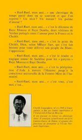 Baol-Baol Mon Ami - 4ème de couverture - Format classique