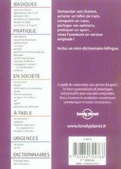 Guide De Conversation ; Turc - 4ème de couverture - Format classique