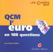 Qcm l'euro en 188 questions - Couverture - Format classique