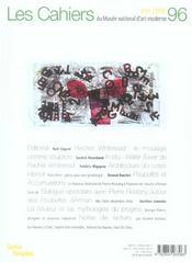 Cahiers Du Musee National D'Art Moderne N 96 - 4ème de couverture - Format classique