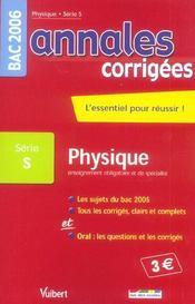 Annales Corrigees T.10 (édition 2006) - Intérieur - Format classique