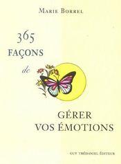 365 facons de gerer vos emotions - Intérieur - Format classique