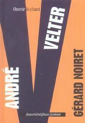 André Velter ; ouvrir le chant - Intérieur - Format classique