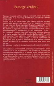 Passage verdeau - 4ème de couverture - Format classique