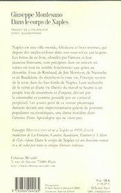 Dans Le Corps De Naples - 4ème de couverture - Format classique