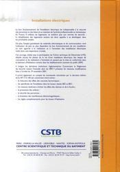 Installations Electriques. Conception, Realisation, Entretien, Mise En Conformit - 4ème de couverture - Format classique