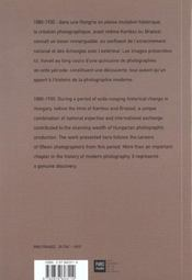Photographies hongroises - 4ème de couverture - Format classique
