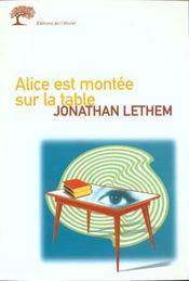 Alice Est Montee Sur La Table - Intérieur - Format classique