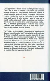 Traits De L'Etre - 4ème de couverture - Format classique