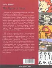 Mes Algéries en france ; carnet de voyages - 4ème de couverture - Format classique