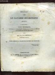 Essai Sur Le Catarre Pulmonaire Aigu. N° 19. - Couverture - Format classique