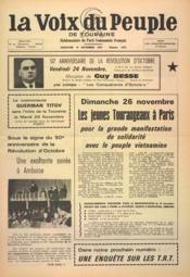 Voix Du Peuple De Touraine (La) N°1373 du 19/11/1973 - Couverture - Format classique