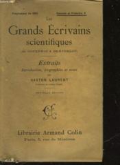 Les Grands Ecrivains Scientifiques - De Copernic A Berthelot - Couverture - Format classique