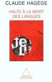 Halte à la mort des langues - Intérieur - Format classique