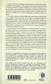 L'Abattoir ; Soledad - 4ème de couverture - Format classique