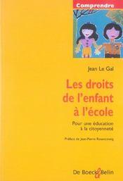 Les Droits De L'Enfant A L'Ecole Pour Une Education A La Citoyennete - Intérieur - Format classique
