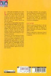 Les Droits De L'Enfant A L'Ecole Pour Une Education A La Citoyennete - 4ème de couverture - Format classique