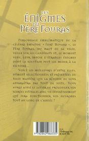 Les Enigmes Du Pere Fouras - 4ème de couverture - Format classique
