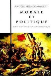 Morale Et Politique - Couverture - Format classique