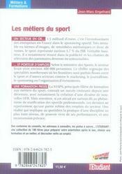 Les Metiers Du Sport - 4ème de couverture - Format classique