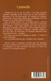 Cannelle - 4ème de couverture - Format classique