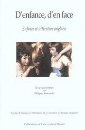 D'Enfance D'En Face ; Enfance Et Litterature Anglaise - Intérieur - Format classique