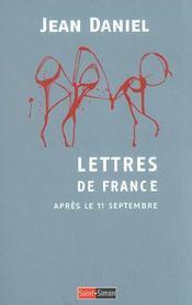 Lettres De France. Après Le 11 Septembre - Intérieur - Format classique