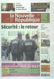 Nouvelle Republique (La) N°20504 du 26/03/2012 - Couverture - Format classique