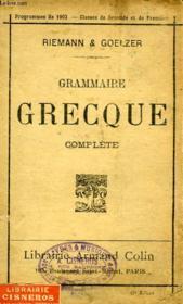 Grammaire grecque complète - Couverture - Format classique
