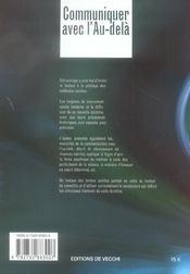 Communiquer Avec L'Au Dela - 4ème de couverture - Format classique
