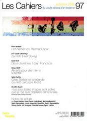Cahiers Du Musee National D'Art Moderne N.97 ; Automne 2006 - 4ème de couverture - Format classique