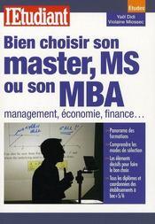 Bien choisir son master en commerce management et son mba - Intérieur - Format classique
