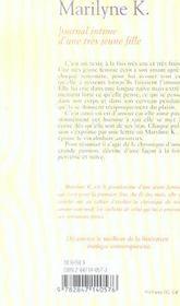 Journal intime d'une très jeune fille - 4ème de couverture - Format classique