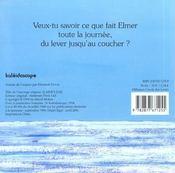 La Journee D Elmer - 4ème de couverture - Format classique